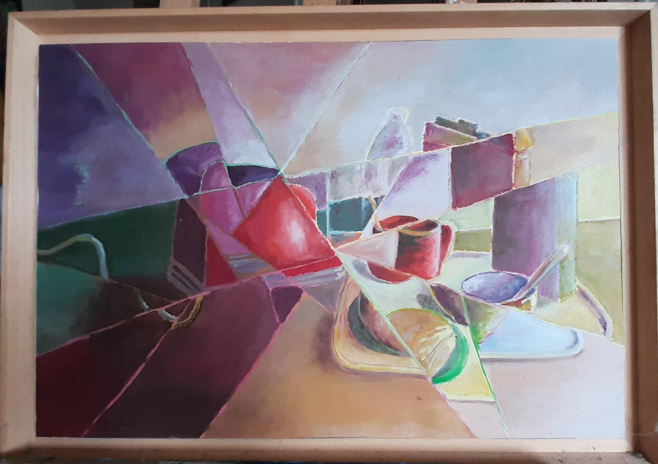 Hôtes et artistes en poitou - Miroir Brisé - Huile sur Papier