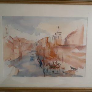 Hôtes et artistes en poitou - Venise - Aquarelle sur papier