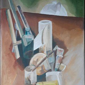 Hôtes et artistes en poitou - Atelier Cubiste - Huile sur toile