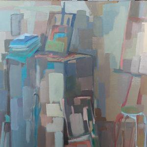 Hôtes et artistes en poitou - Atelier Vieira Da Silva - Huile sur toile 2011