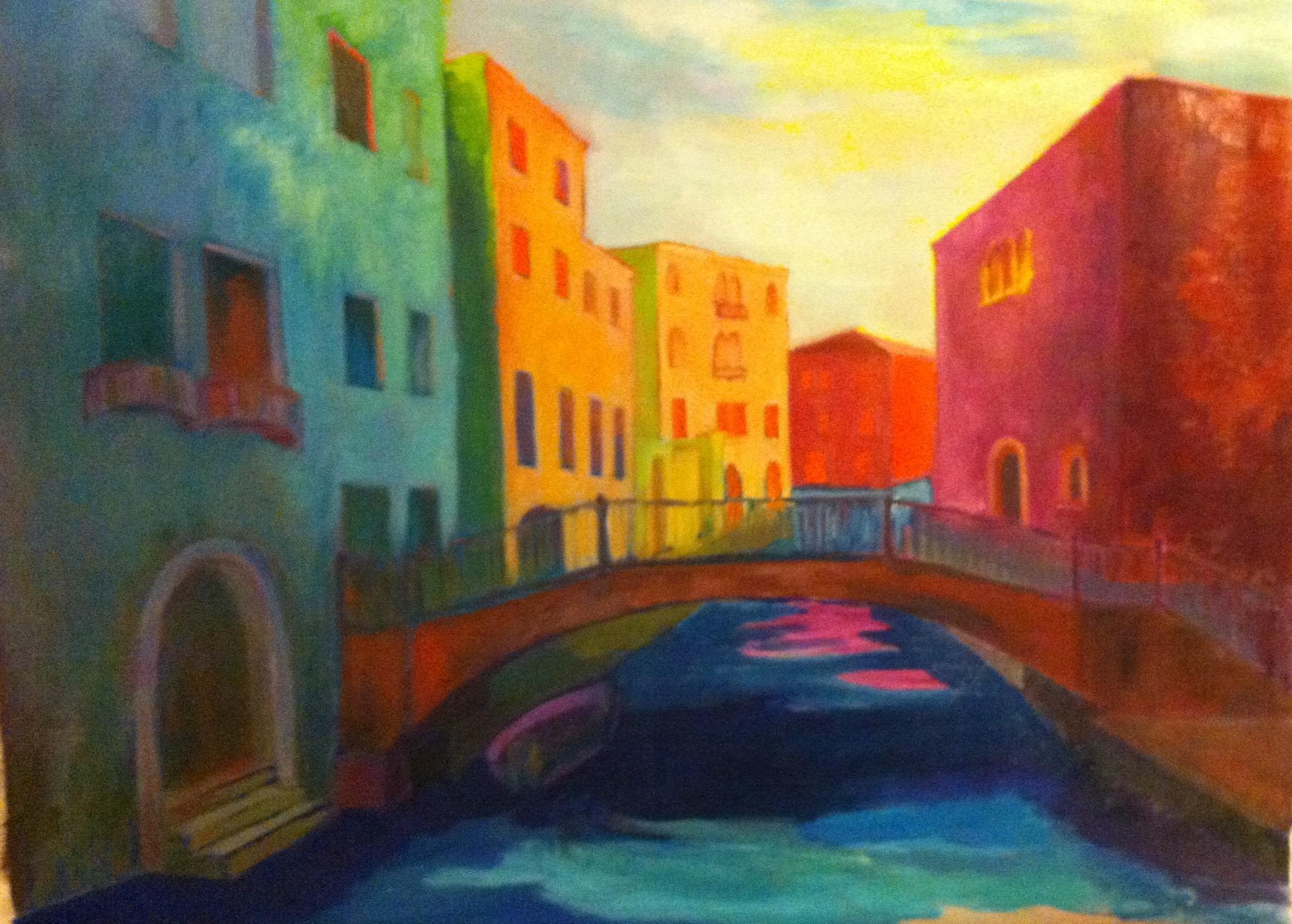 Hôtes et artistes en poitou - Canaletto à Venise, huile sur toile