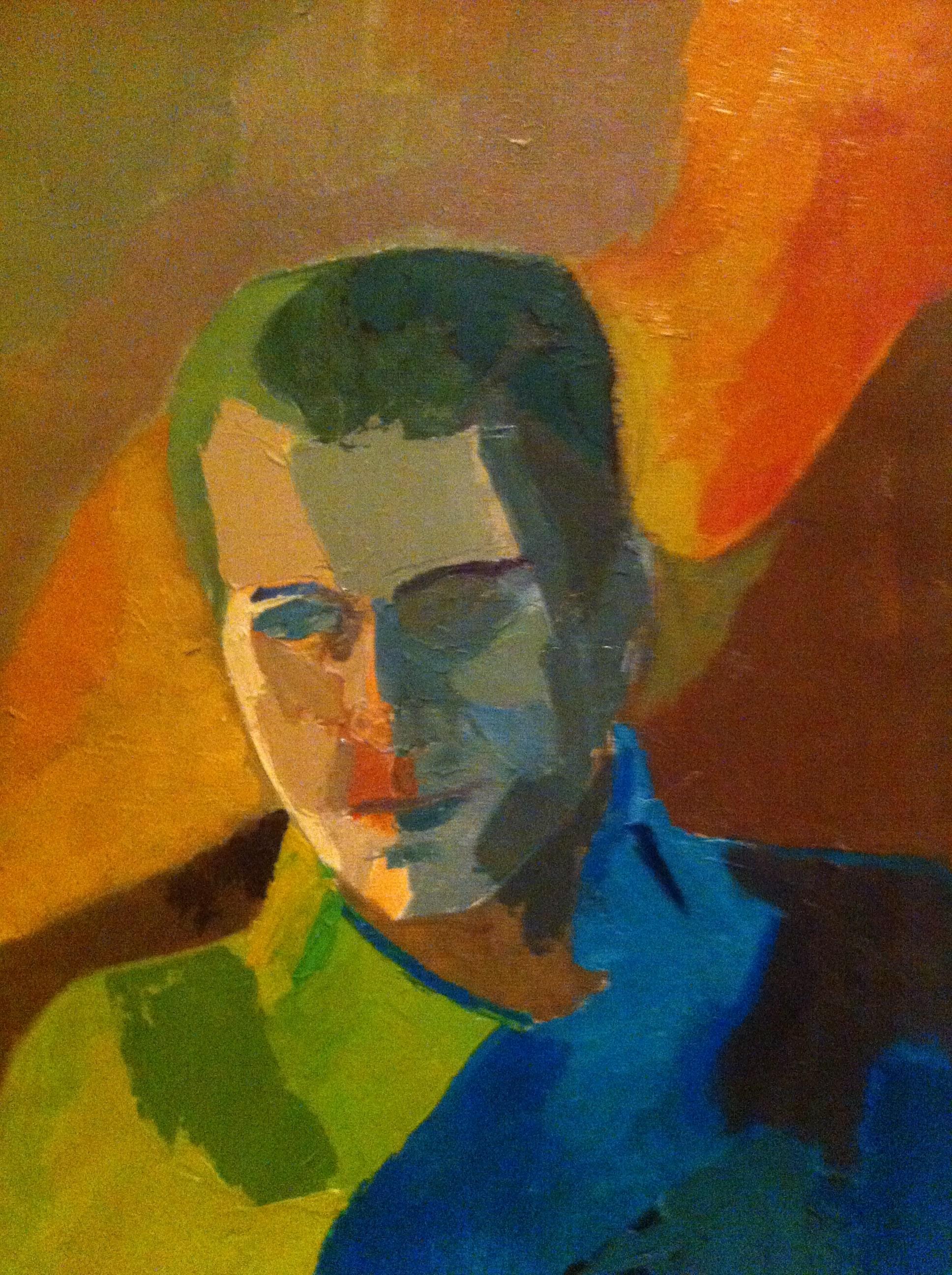 Hôtes et artistes en poitou - Clive Owen, huile au couteau sur toile