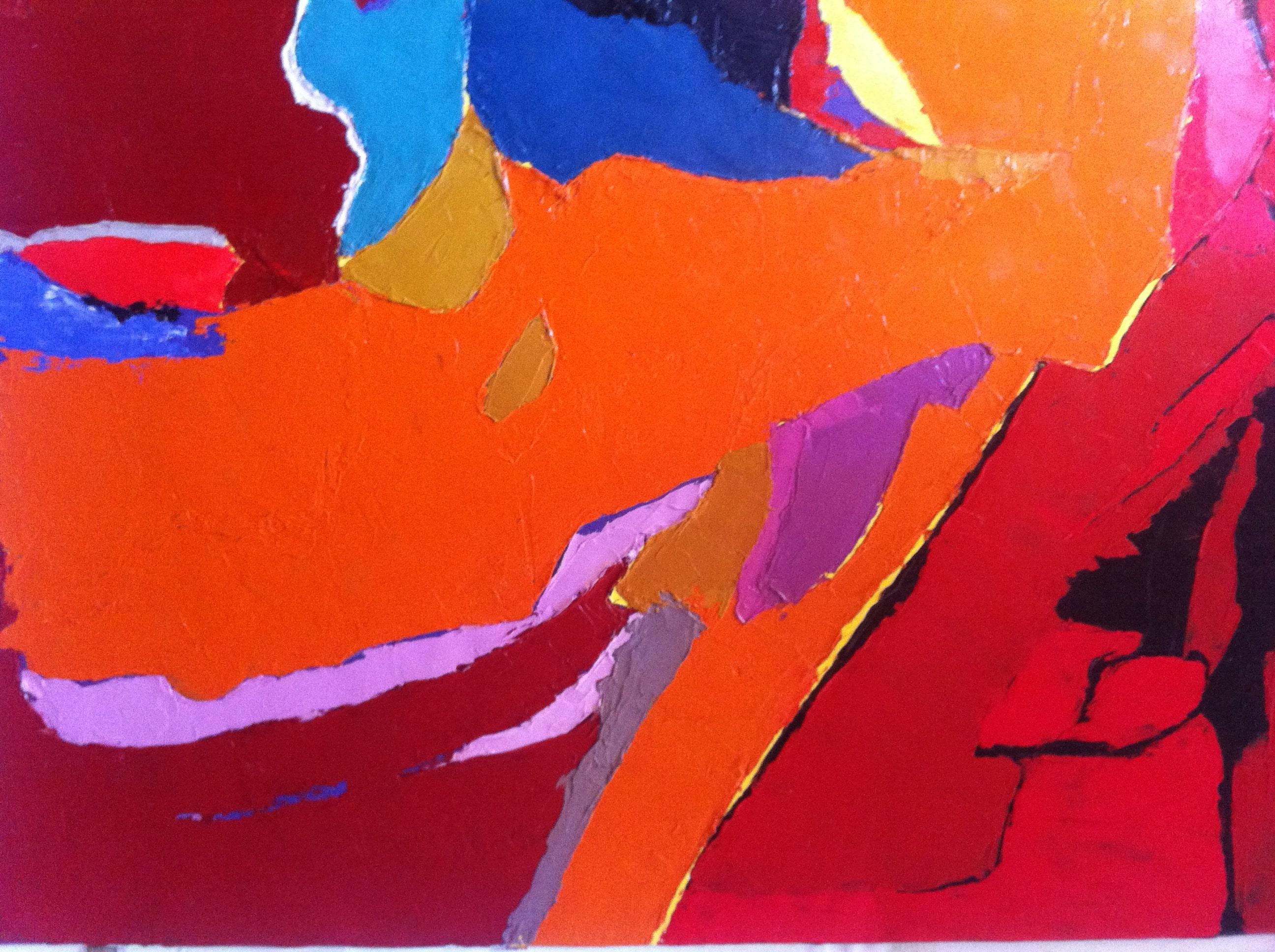 Hôtes et artistes en poitou - Couleurs de Staël I, couteau sur toile