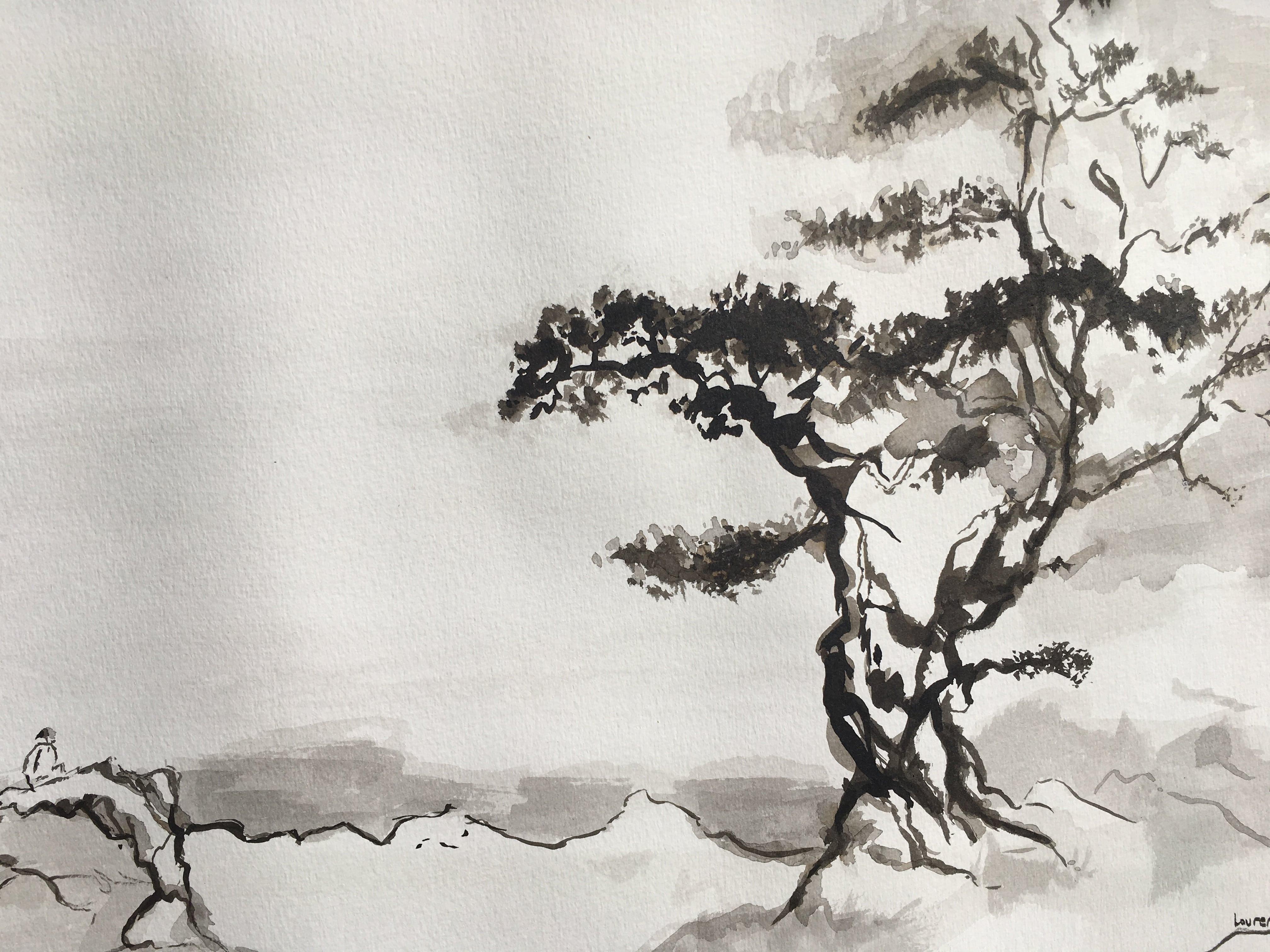 Hôtes et artistes en poitou - Découverte encre de chine Poitiers prof Armelle de Segogne. La pédagogie donne les bases indispensables au dessin et à la peinture, tout en respectant le rythme de chacun, dans une liberté guidée, et épanouissante et porte les élèves vers leur propre créativité. L'accent est mis sur la spontanéité du geste, l'équilibre des formes, des couleurs, le choix de dire ou ne pas dire, pour laisser libre l'expression de la poésie, du rêve