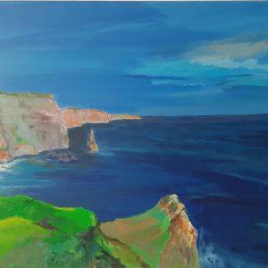Hôtes et artistes en poitou - Falaises d'Irlande - Acrylique sur Toile