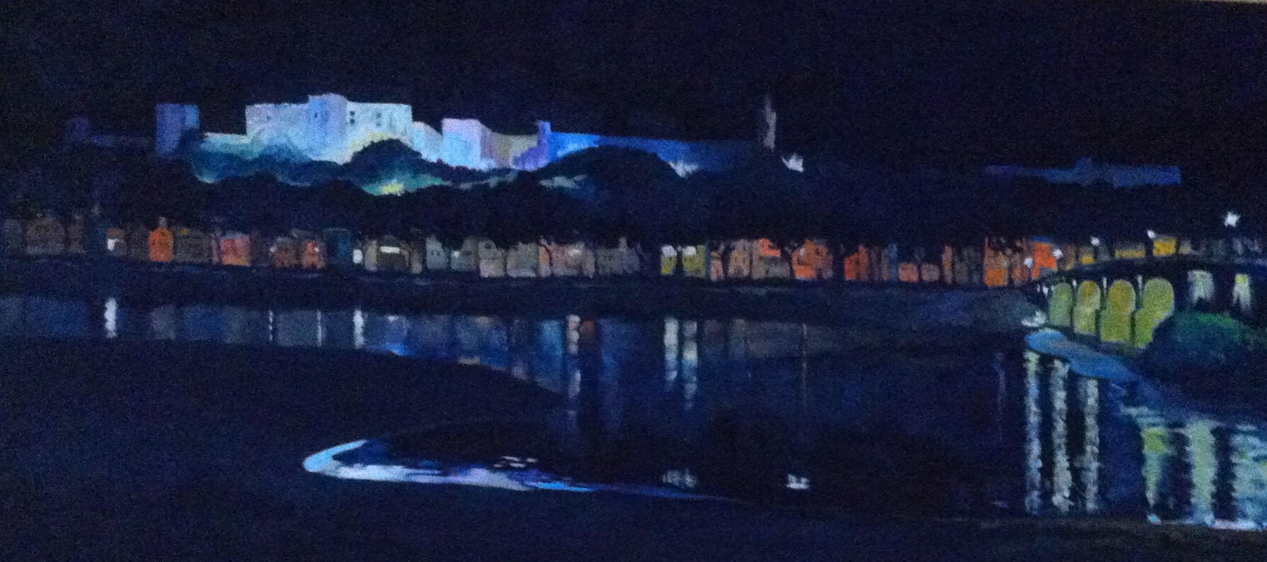 Hôtes et artistes en poitou - Forteresse de Chinon - Huile sur toile