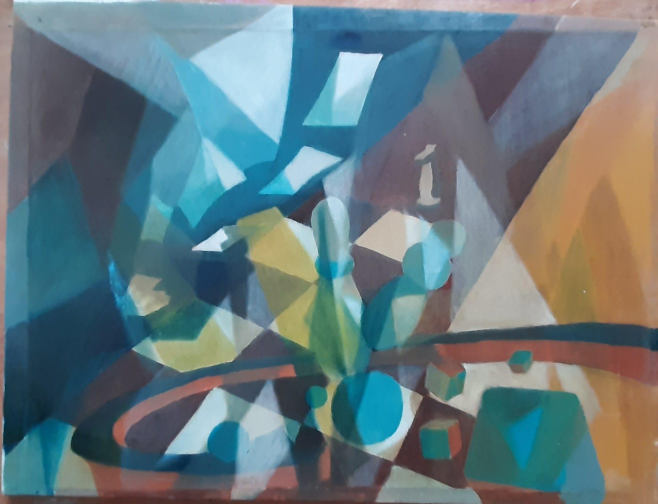 Hôtes et artistes en poitou - Jeux d'Intérieur - Huile sur Toile