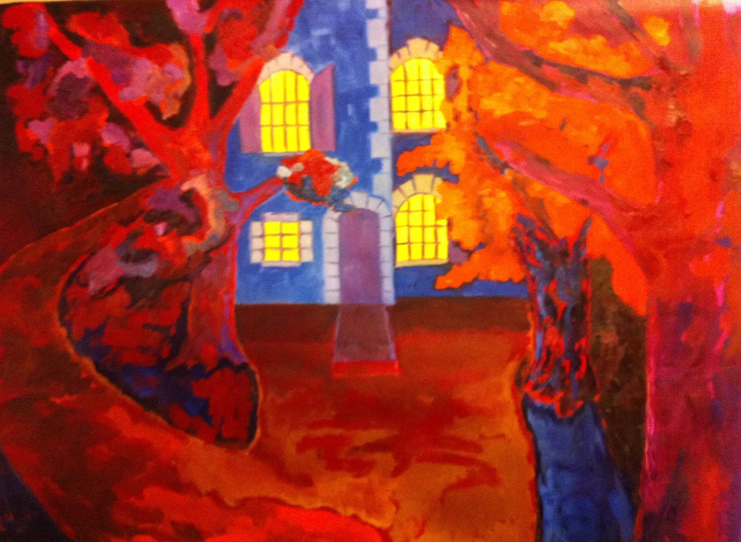 Hôtes et artistes en poitou - La Maison du parc à La Villaumaire, Huile sur toile