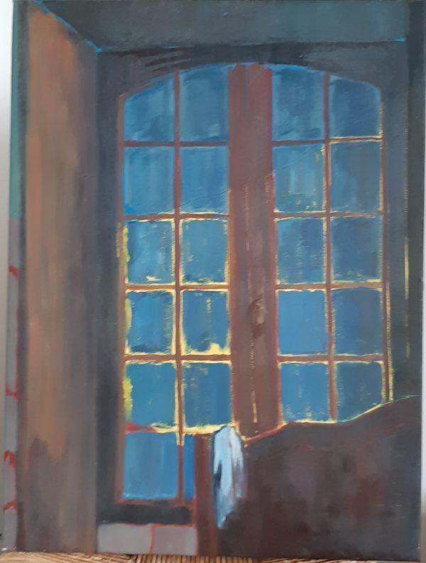 Hôtes et artistes en poitou - La fenêtre - Huile sur Toile