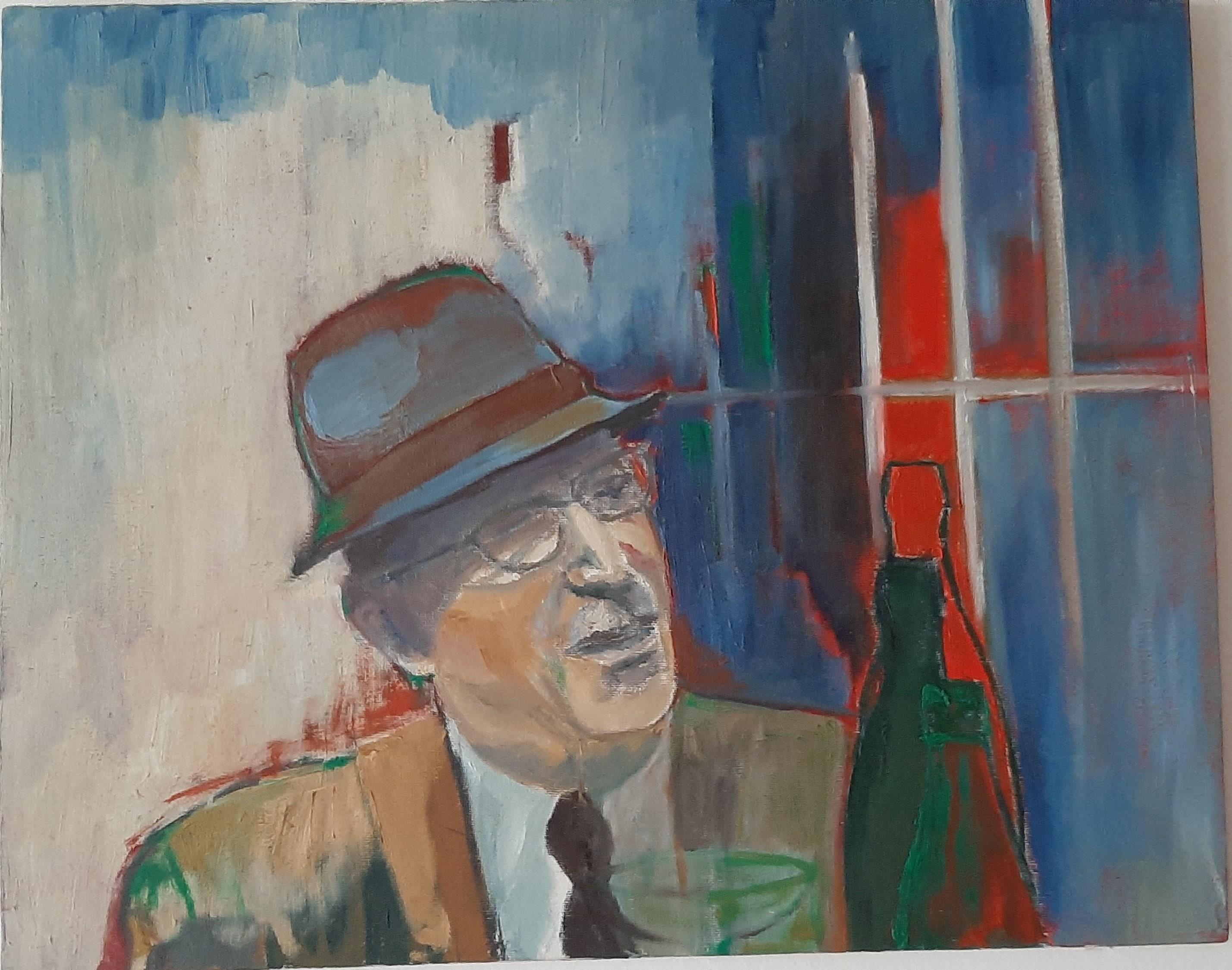 Hôtes et artistes en poitou - Portrait d'Henry de Ségogne - Huile sur Toile
