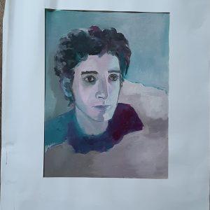 Hôtes et artistes en poitou - Portrait de Melchior-Prototype - Huile sur Toile