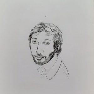 Hôtes et artistes en poitou - Portrait de Victor - Prototype - Dessin au Fusain