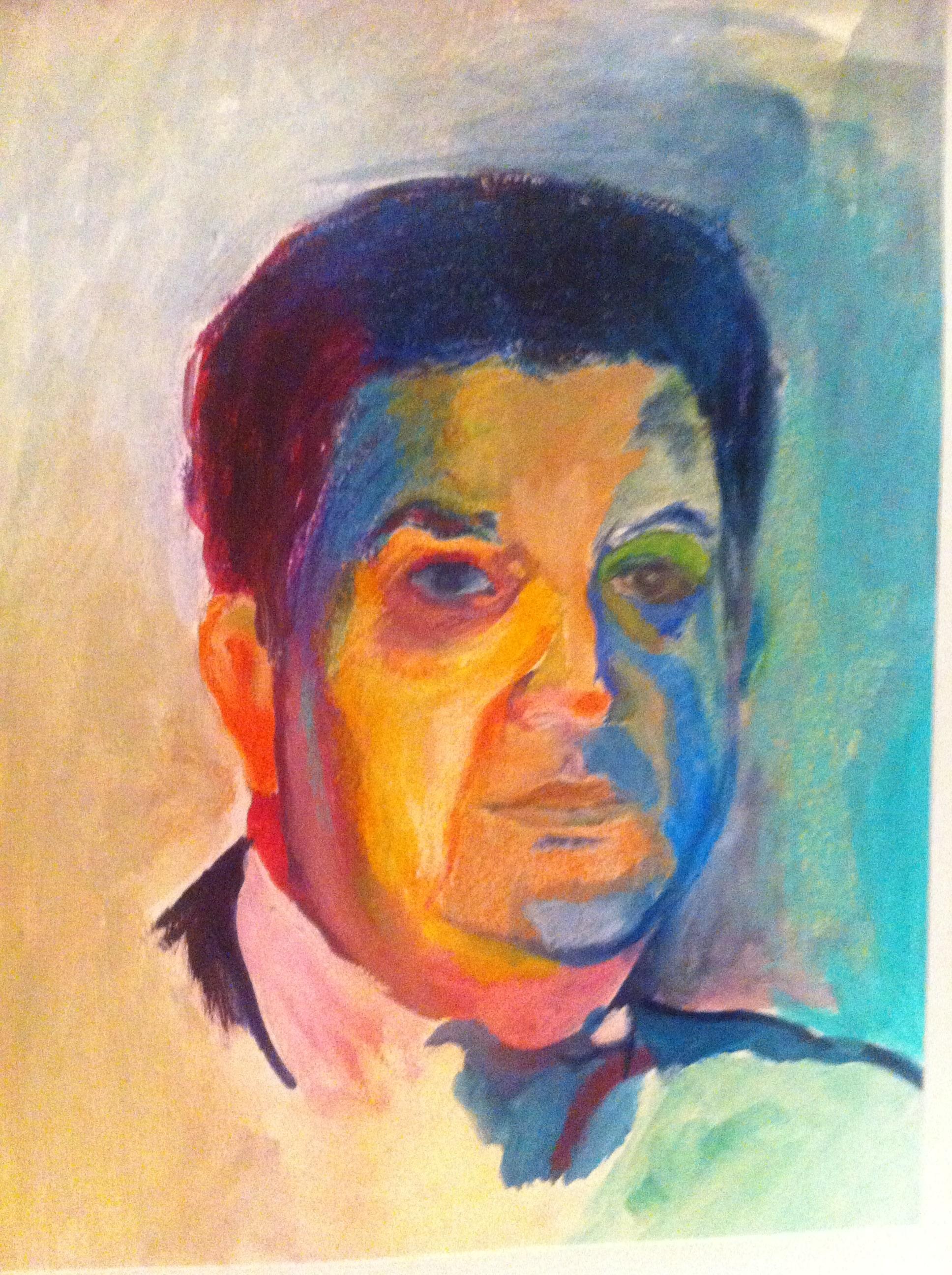 Hôtes et artistes en poitou - Portrait d'yves-marie adeline, huile sur papier