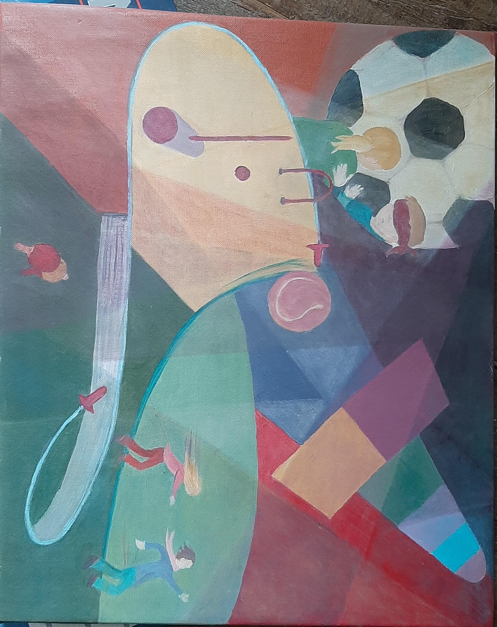 Hôtes et artistes en poitou - Récréation - Huile sur Toile