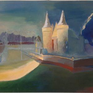 Hôtes et artistes en poitou - Rêve d'un Château - Sully-sur-Loire - Huile sur Toile