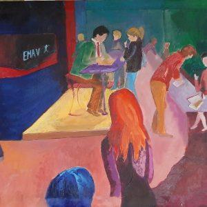 Hôtes et artistes en poitou - Salon de L'Etudiant - Huile sur Toile