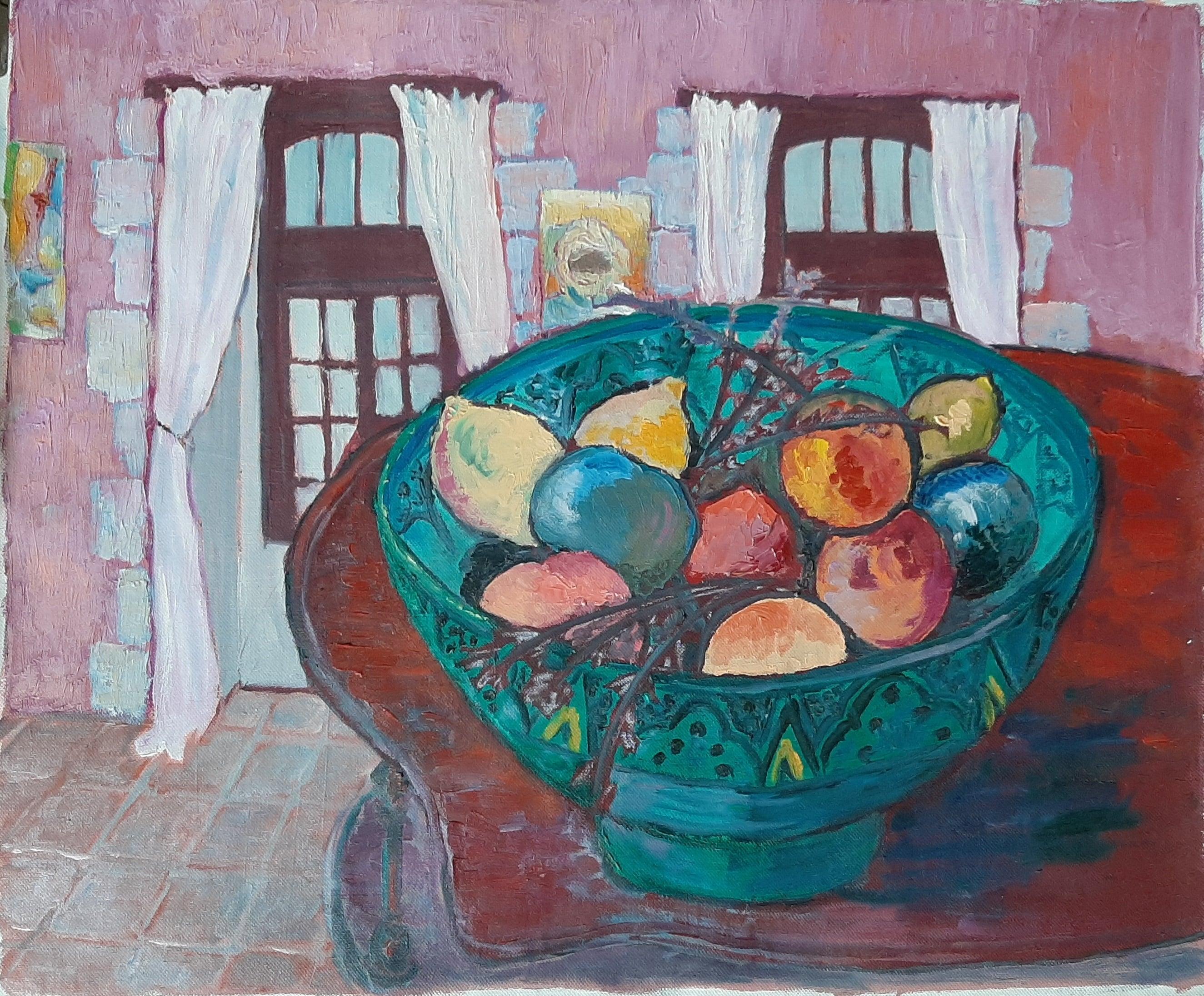 Hôtes et artistes en poitou - Vasque de Fruits